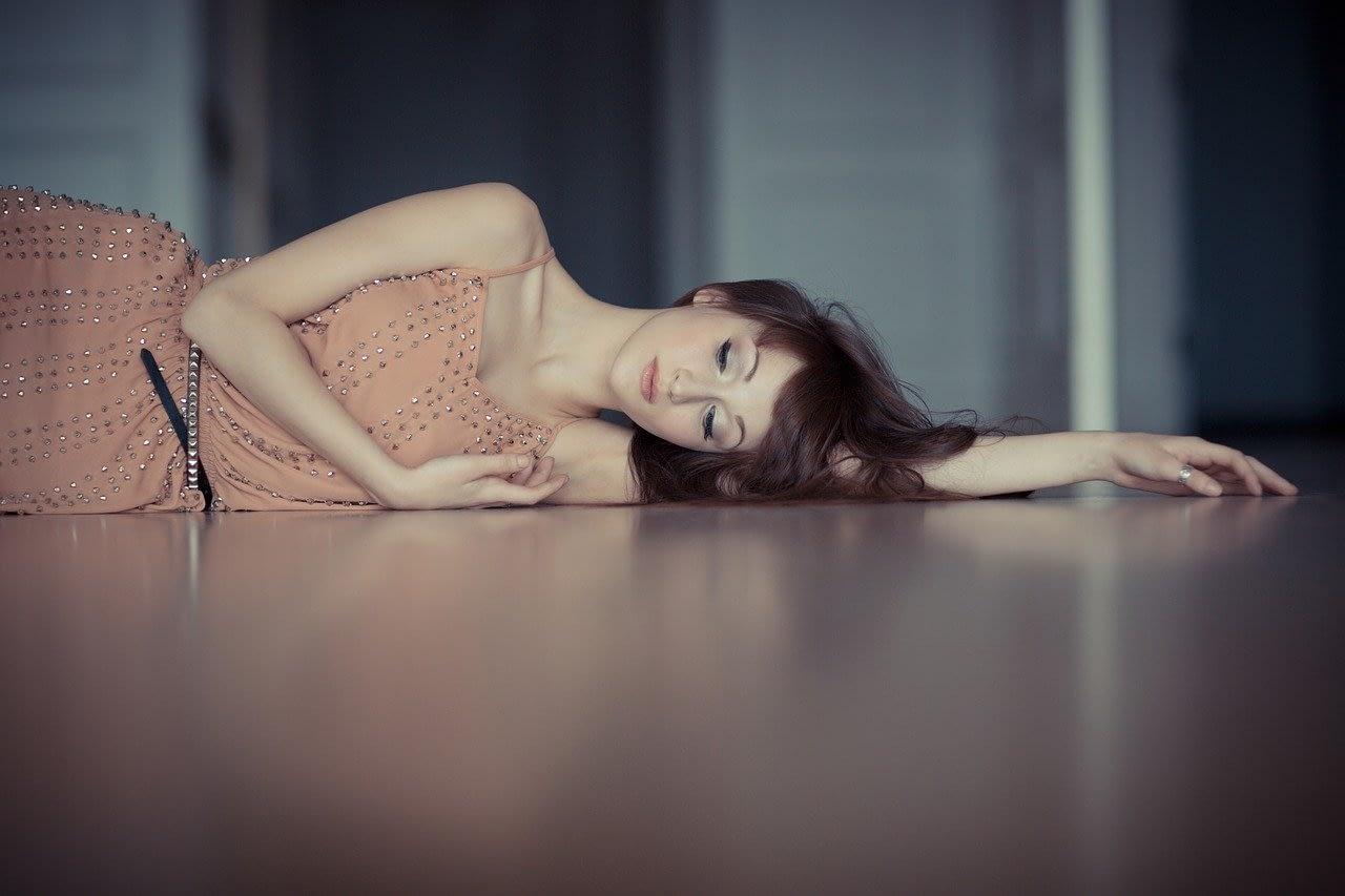 lying on the floor